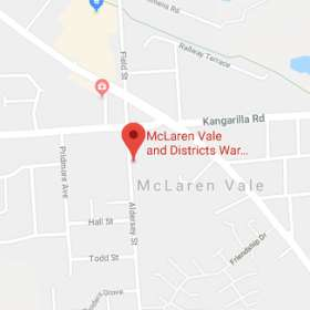 Map for McLaren Vale & Districts War Memorial Hospital