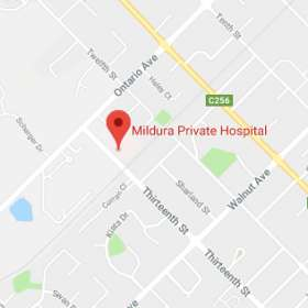 Map for Mildura Private Hospital
