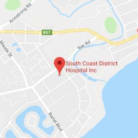 Map for South Coast District Hospital